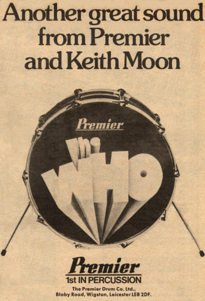 Keith Moon - Premier Drums - 1975 UK