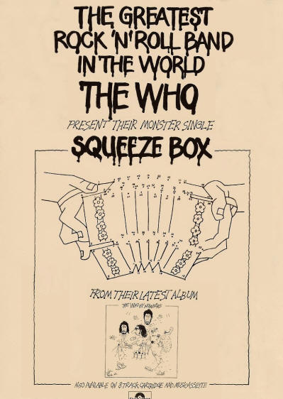 The Who - Squeeze Box - 1975 UK