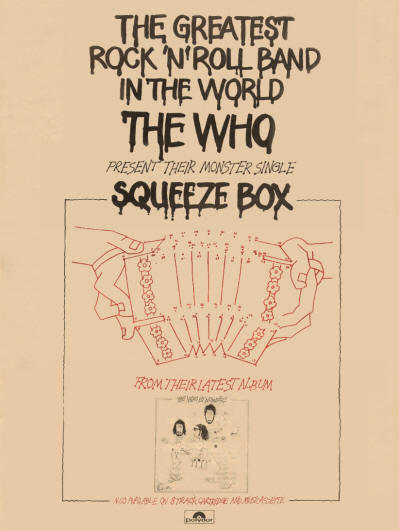 The Who - Squeezebox - 1975 UK