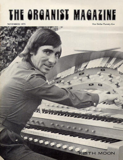 Keith Moon - USA - The Organist Magazine - November, 1975