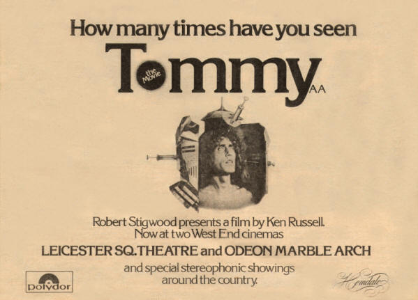 The Who - Tommy (Movie) - 1975 UK