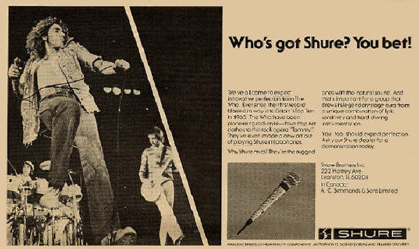 The Who - Shure Microphone - 1977 USA