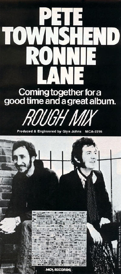 Pete Townshend & Ronnie Lane - Rough Mix - 1977 USA