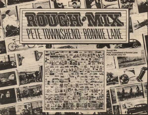 Pete Townshend - Rough Mix - 1977 Holland