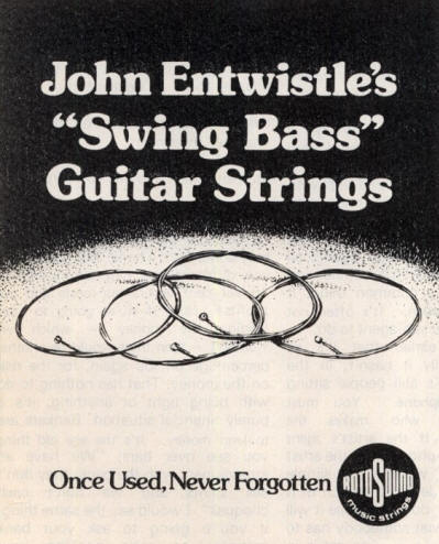John Entwistle - Rotosound Strings - 1978 UK