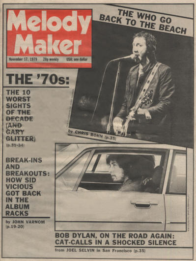 Pete Townshend - UK - Melody Maker - November 17, 1979