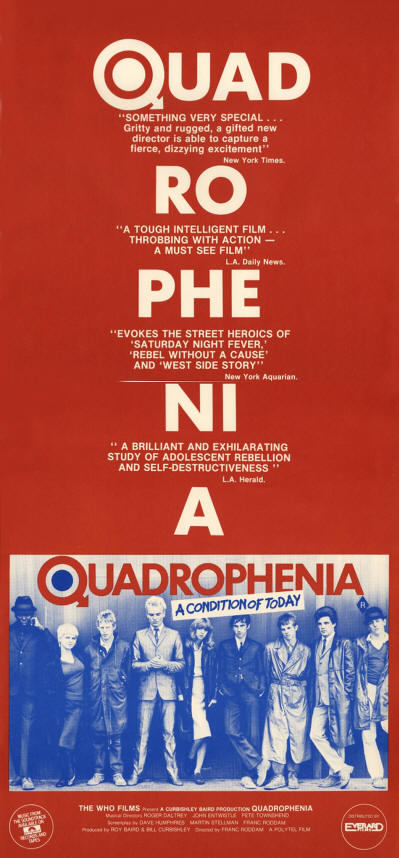 The Who - Quadrophenia - 1979 Australia Poster (Promo)