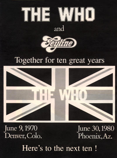 The Who and Feyline - 1980 USA
