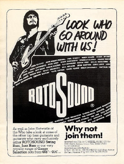John Entwistle - RotoSound Strings - 1981 USA