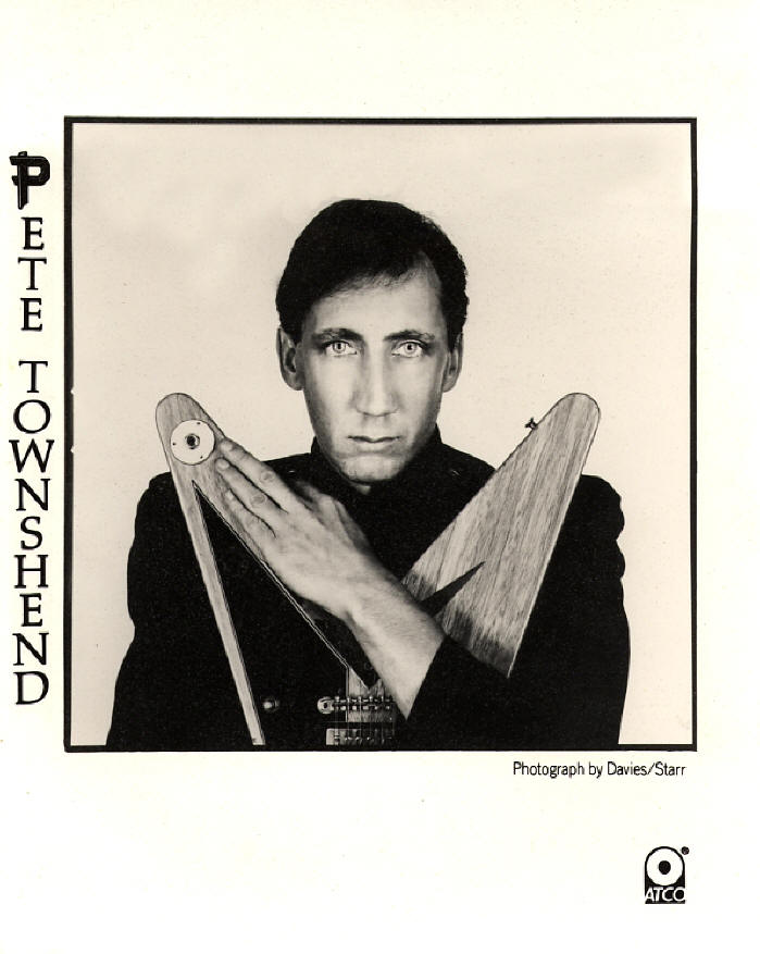 Pete Townshend - All The Best Cowboys Have Chinese Eyes - 1982 Press Kit (Australia)