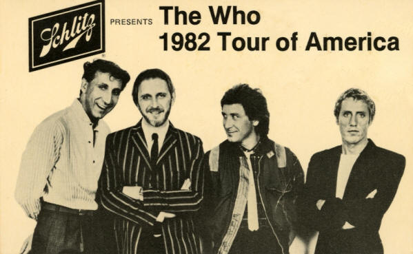 The Who - 1982 Tour Of America - 1982 USA (Post Card)