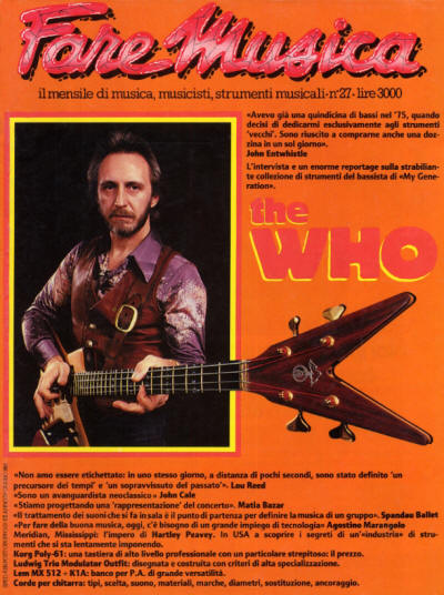John Entwistle - Italy - Fare Musica - June, 1983