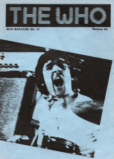 The Who - UK - The Who Magazine #21 - Summer, 1984