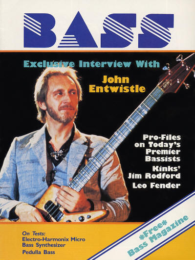 John Entwistle - USA - Bass - July, 1984 (1st Issue)
