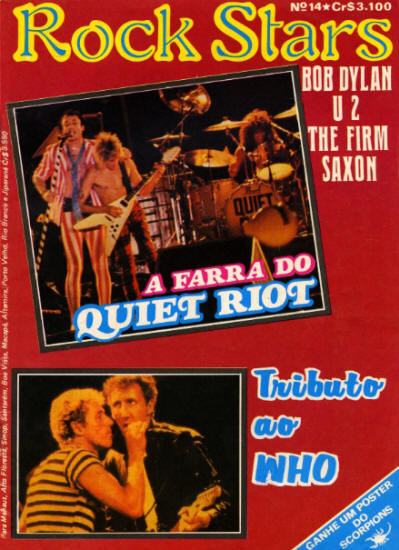 The Who - Brazil - Rock Stars - December, 1984