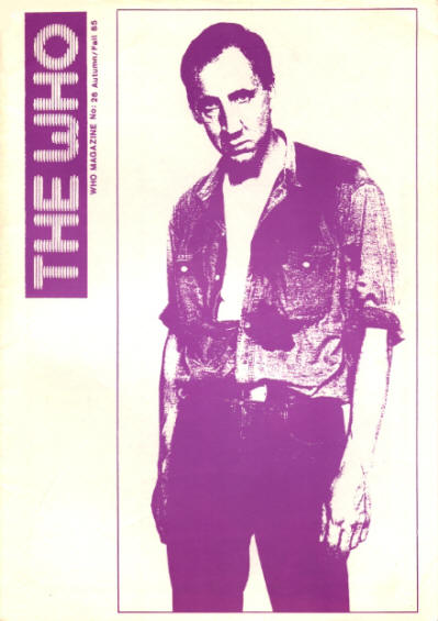 The Who - UK - The Who Magazine #26 - Autumn/Fall, 1985