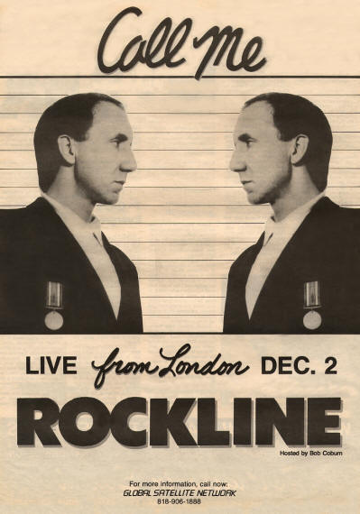 Pete Townshend - Rockline - 1985 USA