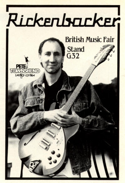 Pete Townshend - Rickenbacker - 1985 UK