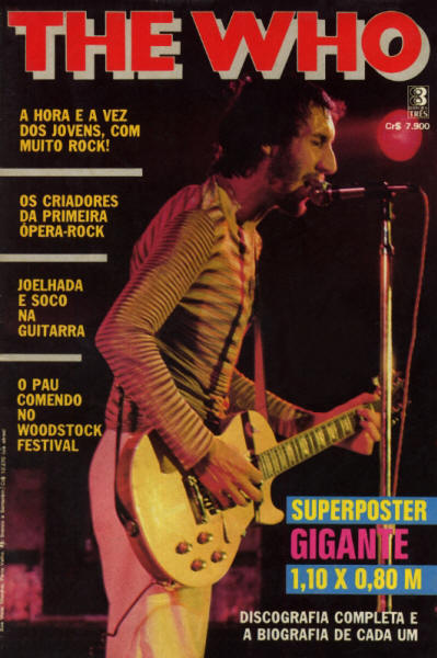 The Who - Brazil - 1985 Poster Magazine