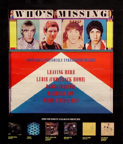 The Who - Who's Missing - 1985 USA (Promo)