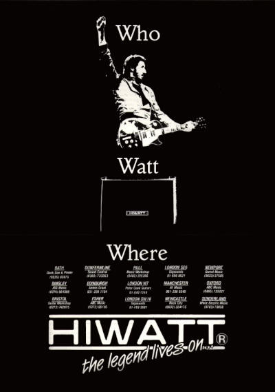 Pete Townshend - Hiwatt - 1986 UK