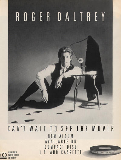 Roger Daltrey -Can't Wait To See The Movie - 1987 UK