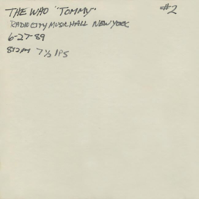 The Who - Radio City Music Hall - June 27, 1989 - Pre-FM Radio Station Reels