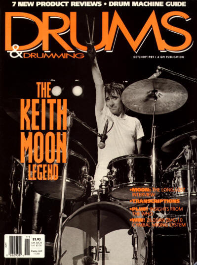 Keith Moon - USA - Drums & Drumming - October/November, 1989