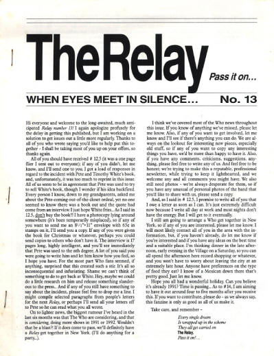 The Who - USA - The Relay - January, 1991
