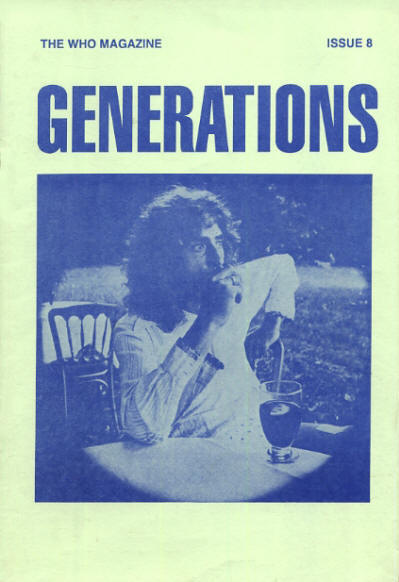The Who - UK - Generations 8 - Spring, 1991