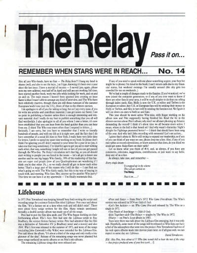 The Who - USA - The Relay - January, 1992