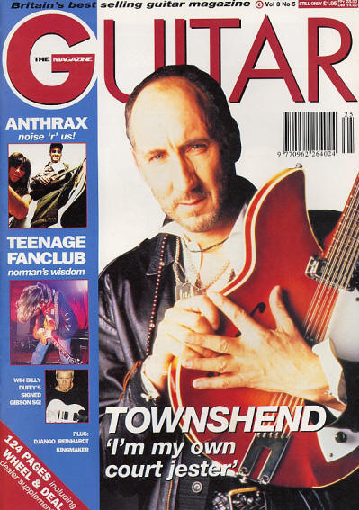 Pete Townshend - UK - Guitar - July, 1993