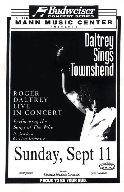 Roger Daltrey - Mann Music Center - September 11, 1994 - PA, USA (Promo)