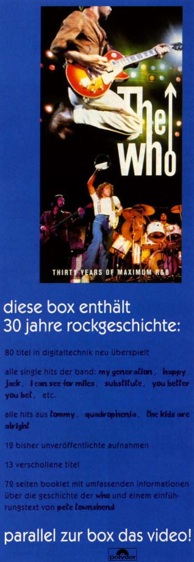 The Who - 30 Years of Maximum R&B - 1994 Germany