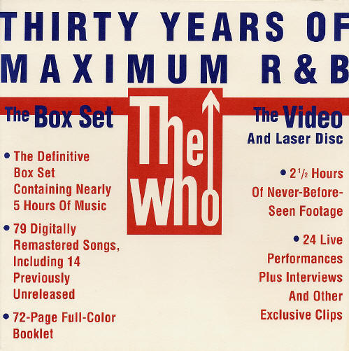 The Who - 30 Years Of Maximum R&B - 1994 USA