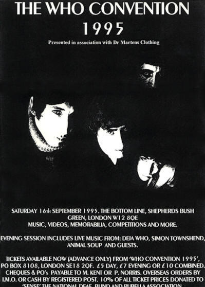 The Who - The Who Convention - September 16, 1995 UK
