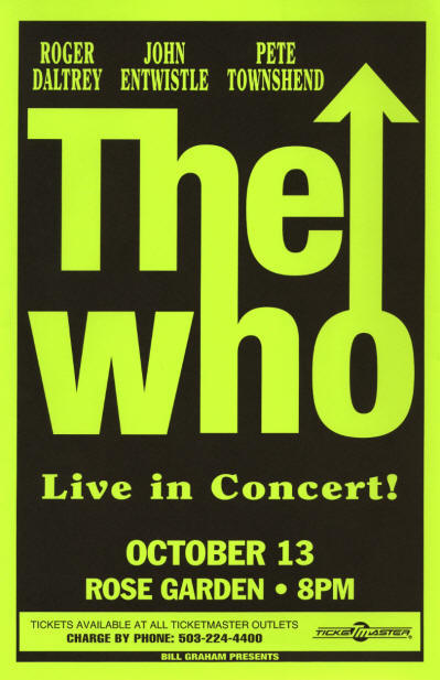 The Who - Portland Oregon Rose Garden - 10/13/96 USA (Promo)