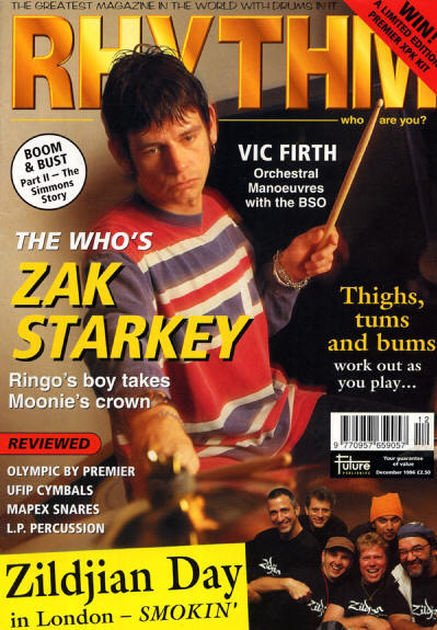 Zak Starkey - UK - Rhythm - December, 1996