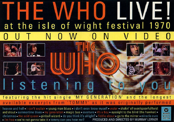 The Who - Live At The Isle Of Wight Festival 1970 - 1996 UK