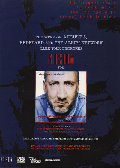Pete Townshend - In The Studio - 1996 USA