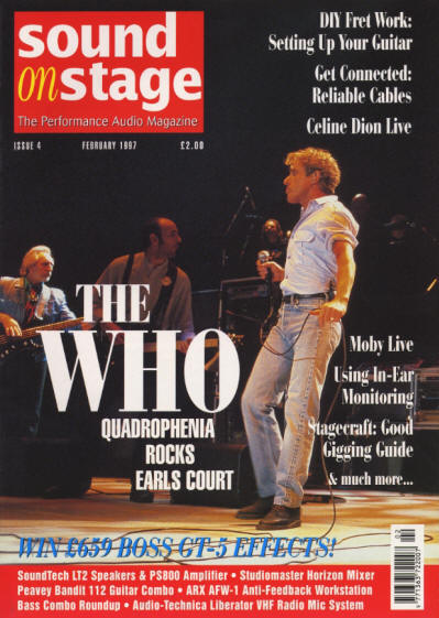 The Who - UK - Sound On Stage - February, 1997