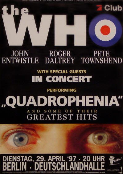 The Who - Quadrophenia Berlin - 1997 Germany (Promo)