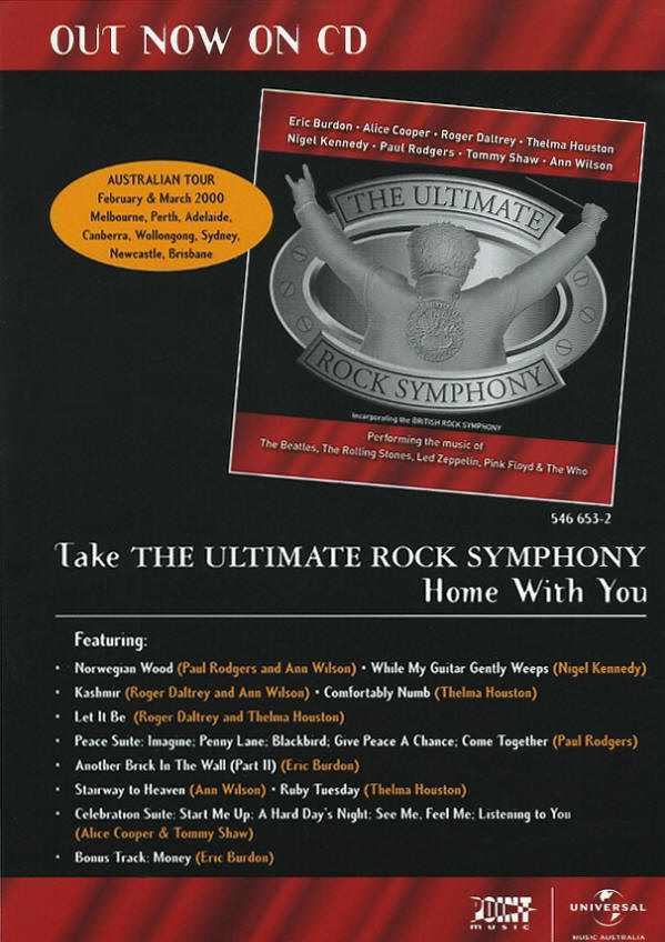Roger Daltrey - British Rock Symphony - 1998 USA