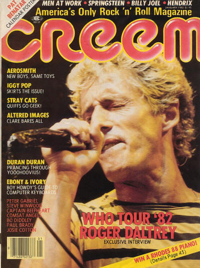 Roger Daltrey - USA - Creem - January, 1983