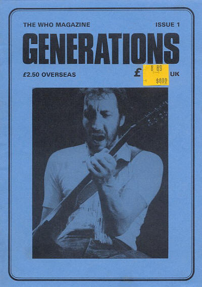 The Who - UK - Generations #1 - February, 1986