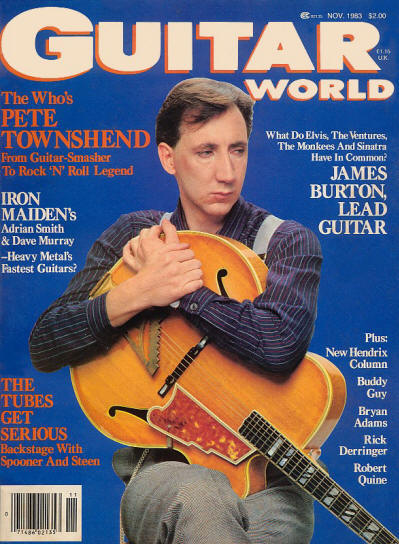 Pete Townshend - UK - Guitar World - November, 1983