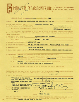 Contract for Woodstock (1969)