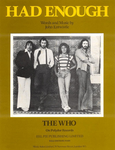 The Who - UK - Had Enough - 1978