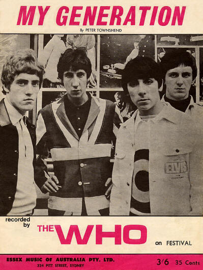 The Who - UK - My Generation - Australia - 1965