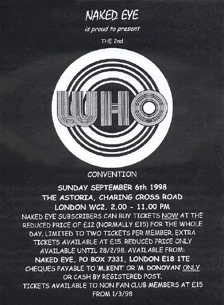 The Who - The Who Convention - 1998 UK